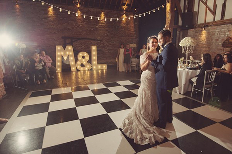 You and Your Wedding - Cooling Castle Barn - Light Up Initials