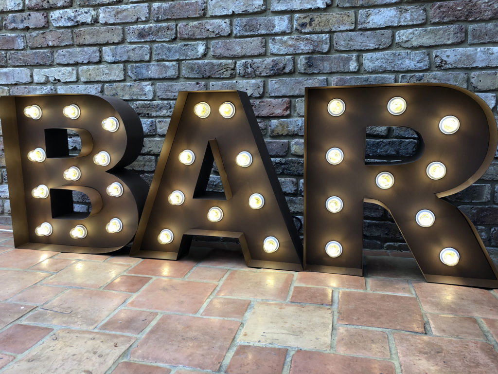 2ft rusty BAR letters