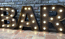 2ft BAR Light Up Letters