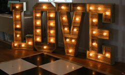 4ft Rustic Light Up Letters
