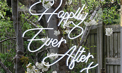 Neon Happily Ever After Sign