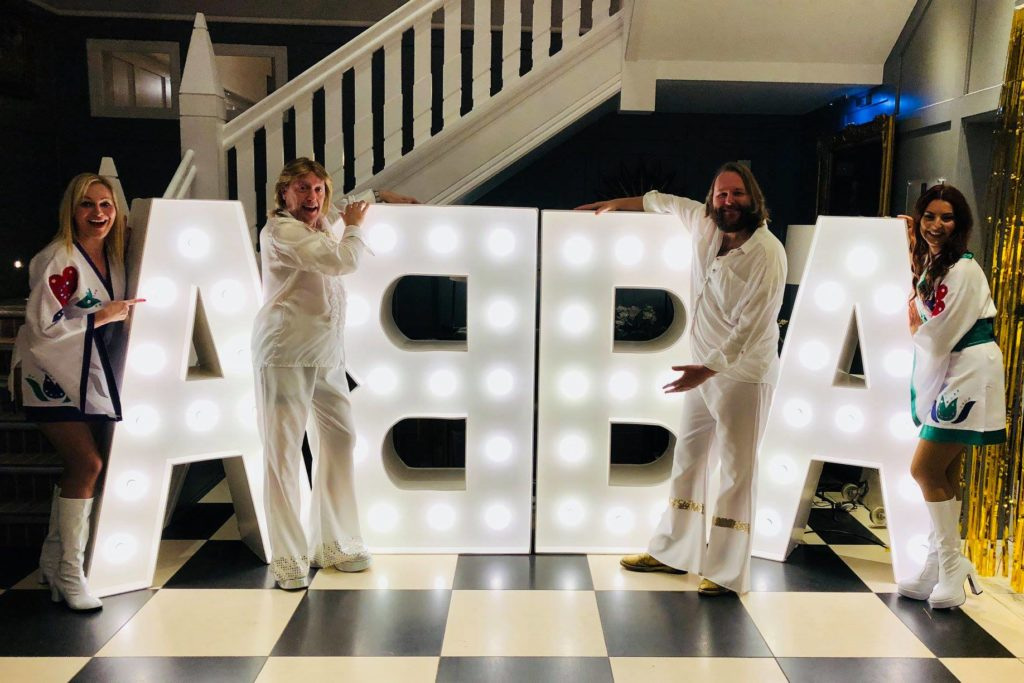 Light Up ABBA Letters