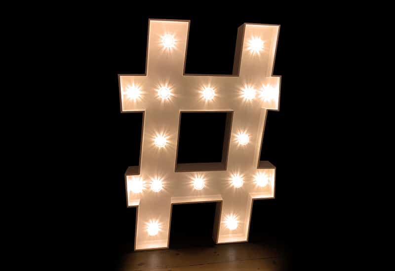 Light Up Hashtag