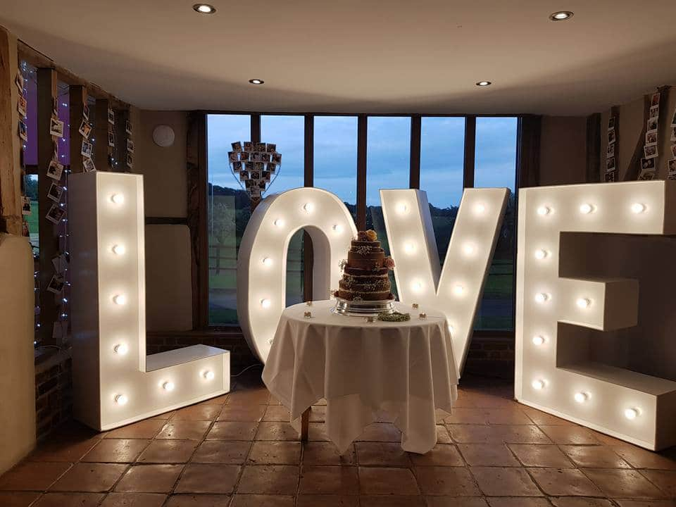 Coltsfoot White Light Up Letters