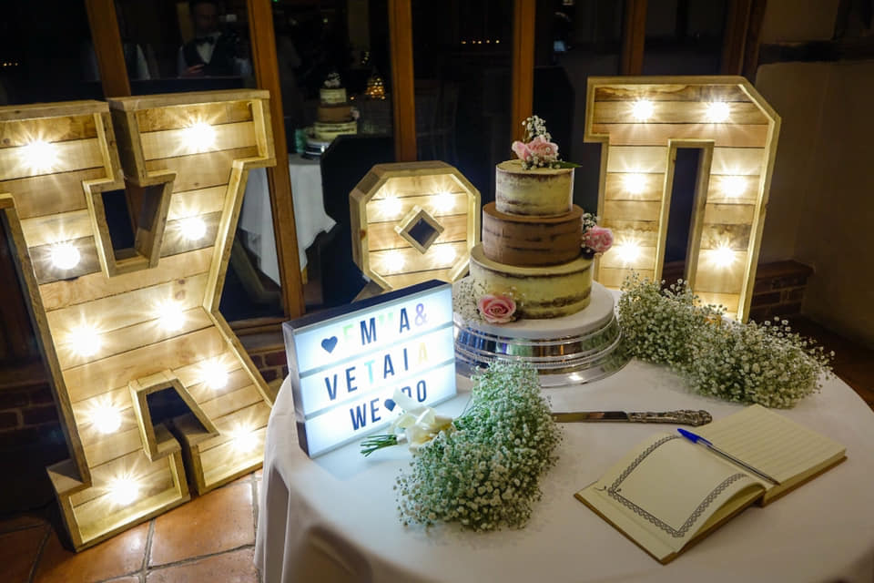 Rustic Light Up Letters at Coltsfoot