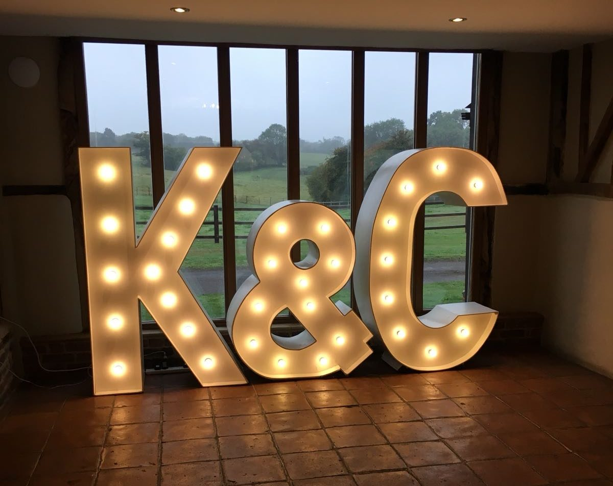 Light Up Letters at Coltsfoot Country Retreat