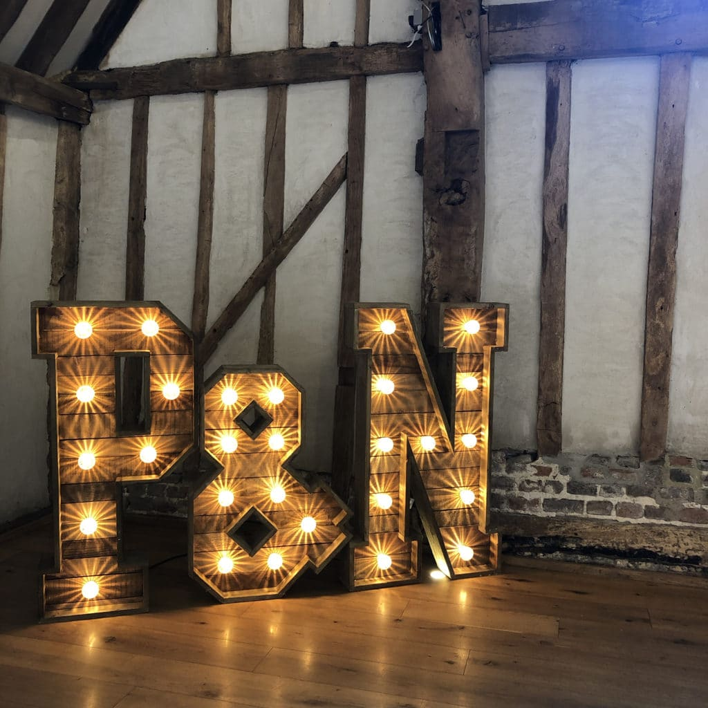 Rustic Light Up Letters Blake Hall