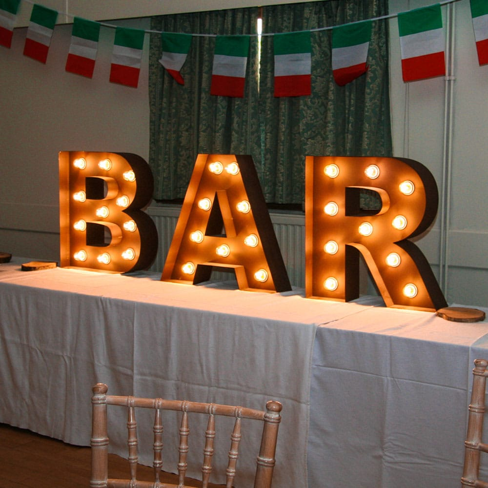 2ft 'BAR' Sign