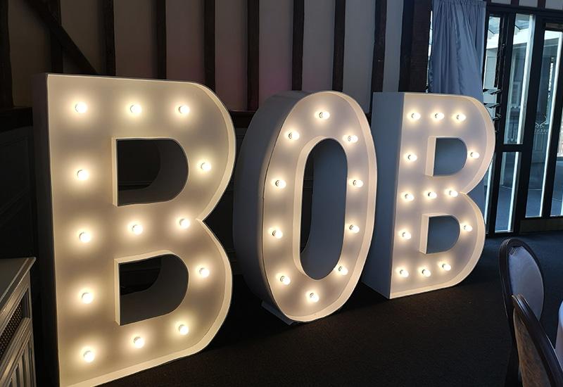 Light Up Names Hire Hertfordshire