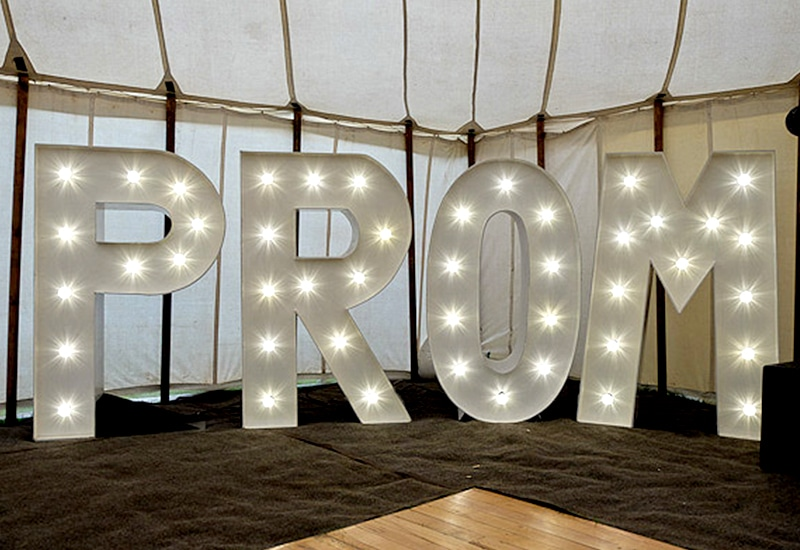 Light Up PROM Letters Herts