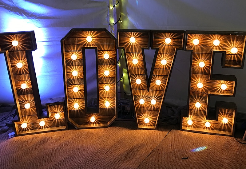 Rustic Light Up LOVE