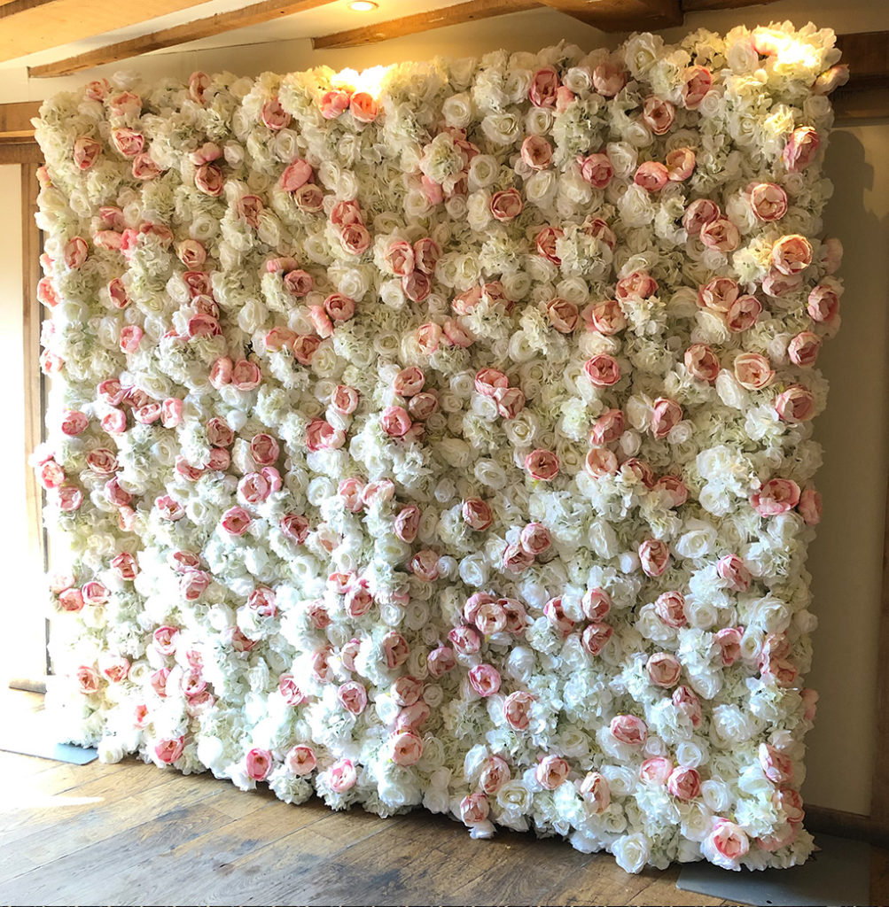 Flower Wall with Pink Flowers
