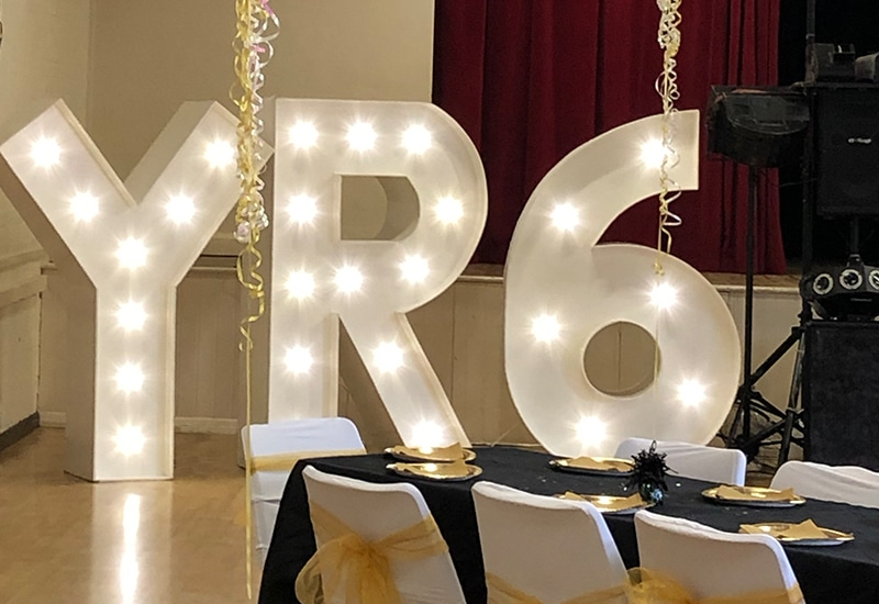 Leaver's Party Light Up Letters