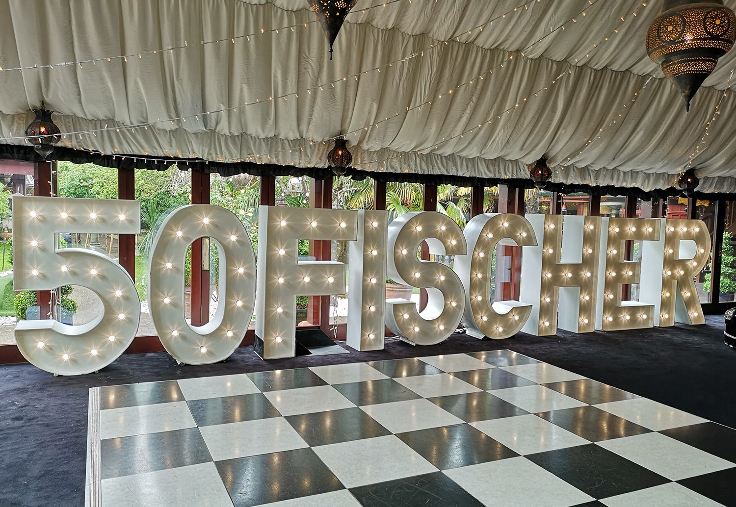 Corporate Light Up Letter Hire