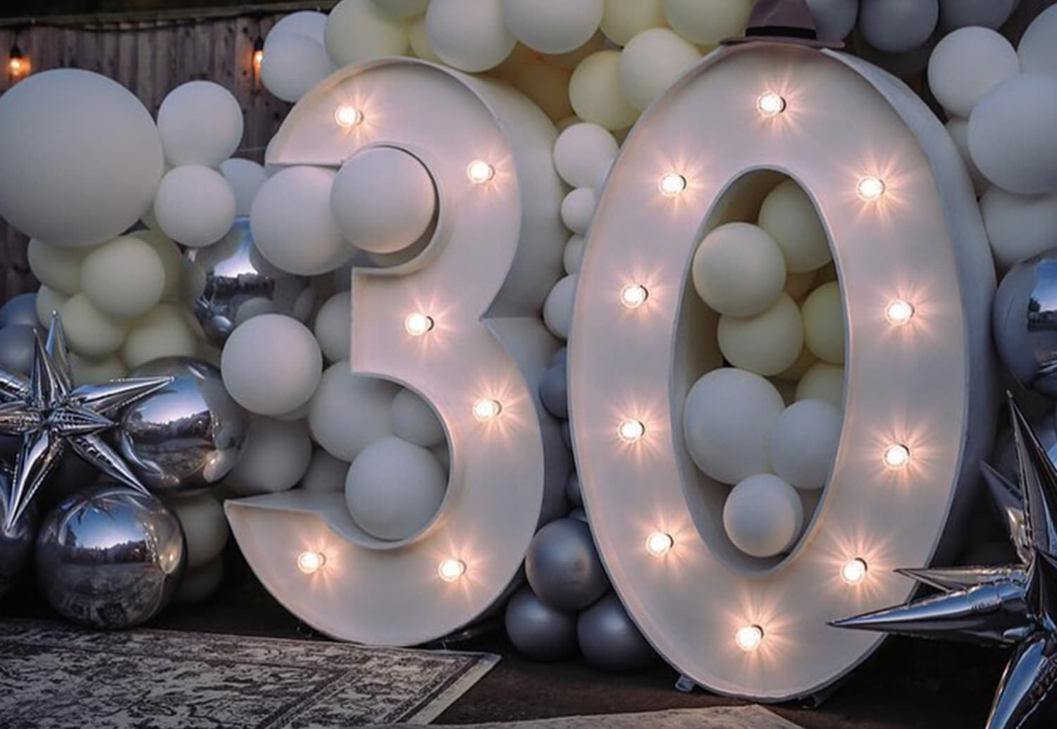 Light Up Number Hire