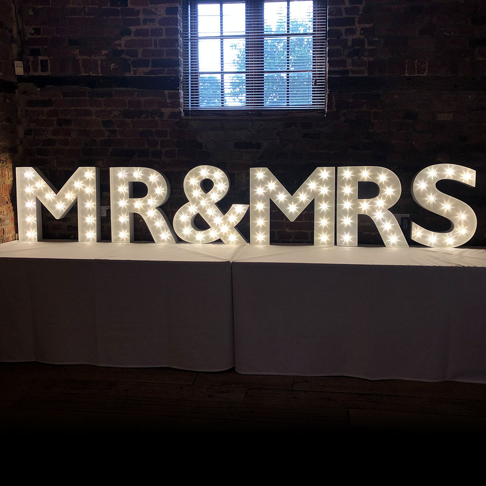 Mini MR&MRS Light Up Letters