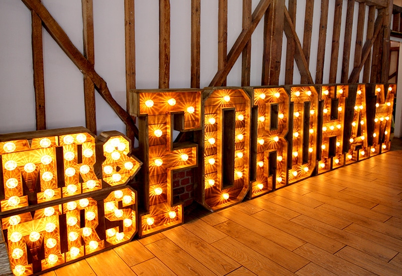Rustic Light Up Surnames