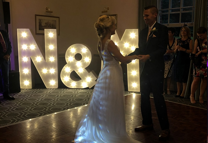 Light Up Letter Hire in Cheshunt