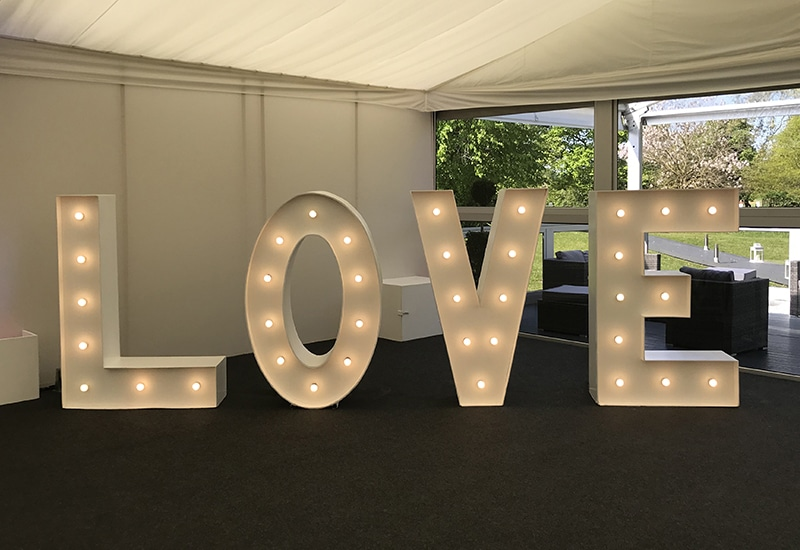 LOVE letters at Syon Park