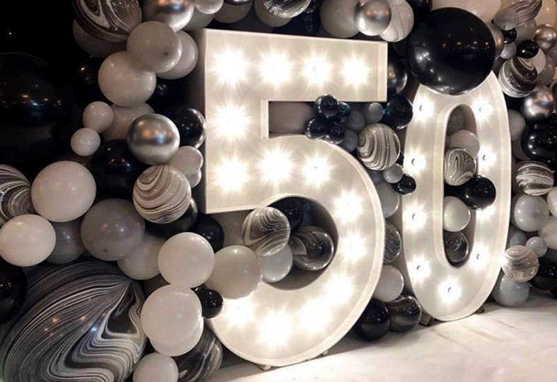 Light Up Numbers at Riverside Venue