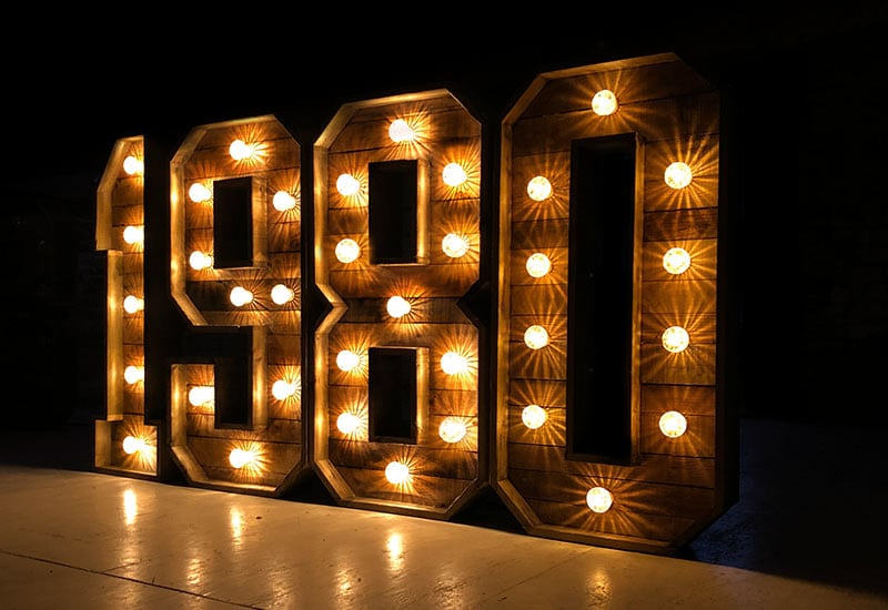 Rustic Light Up Numbers