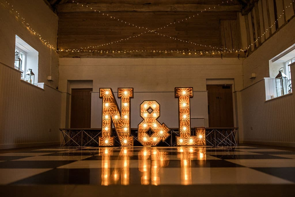 Light Up Letters at The Barn at Alswick
