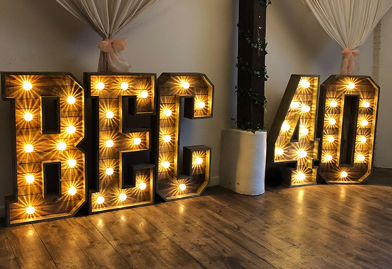 Birthday Rustic Letters