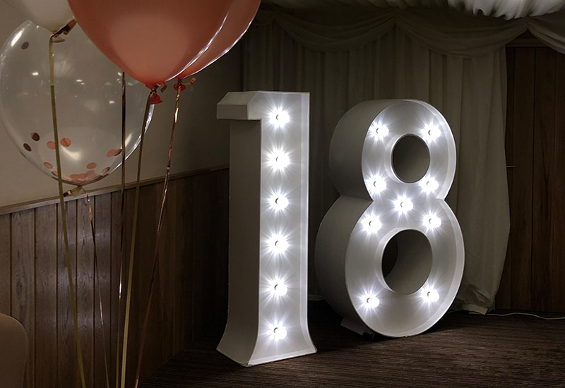 Light Up 18 For Hire