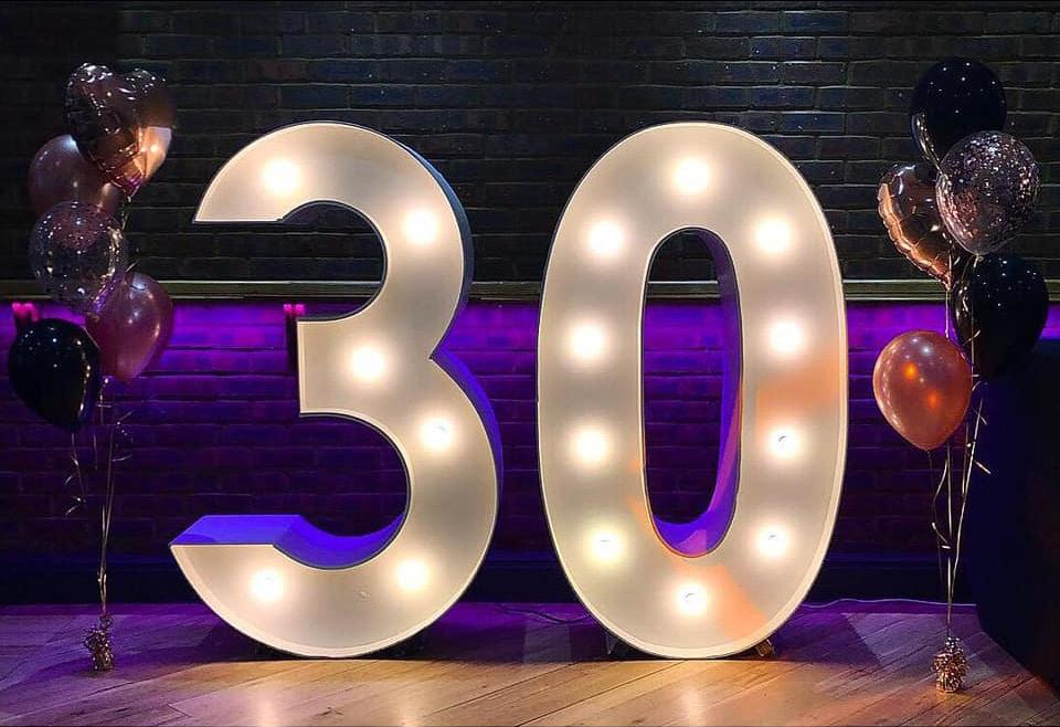 30 Light Up Numbers Hire Stevenage