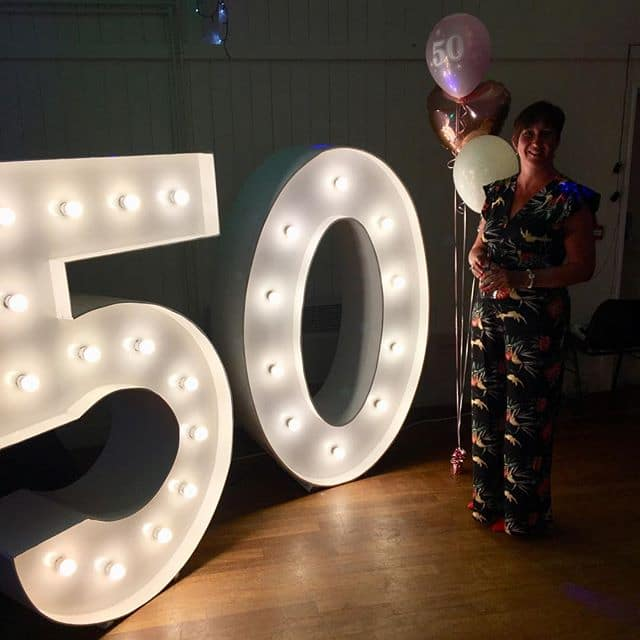 50th Birthday Number Hire