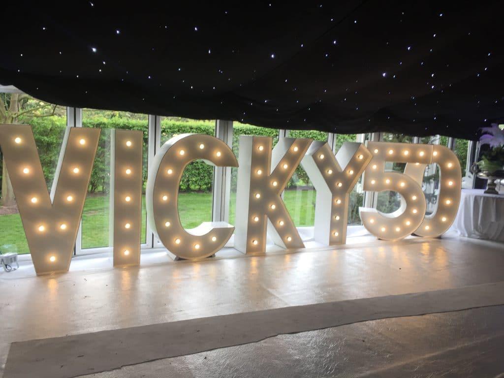 Huge LED Letter Hire for Birthdays