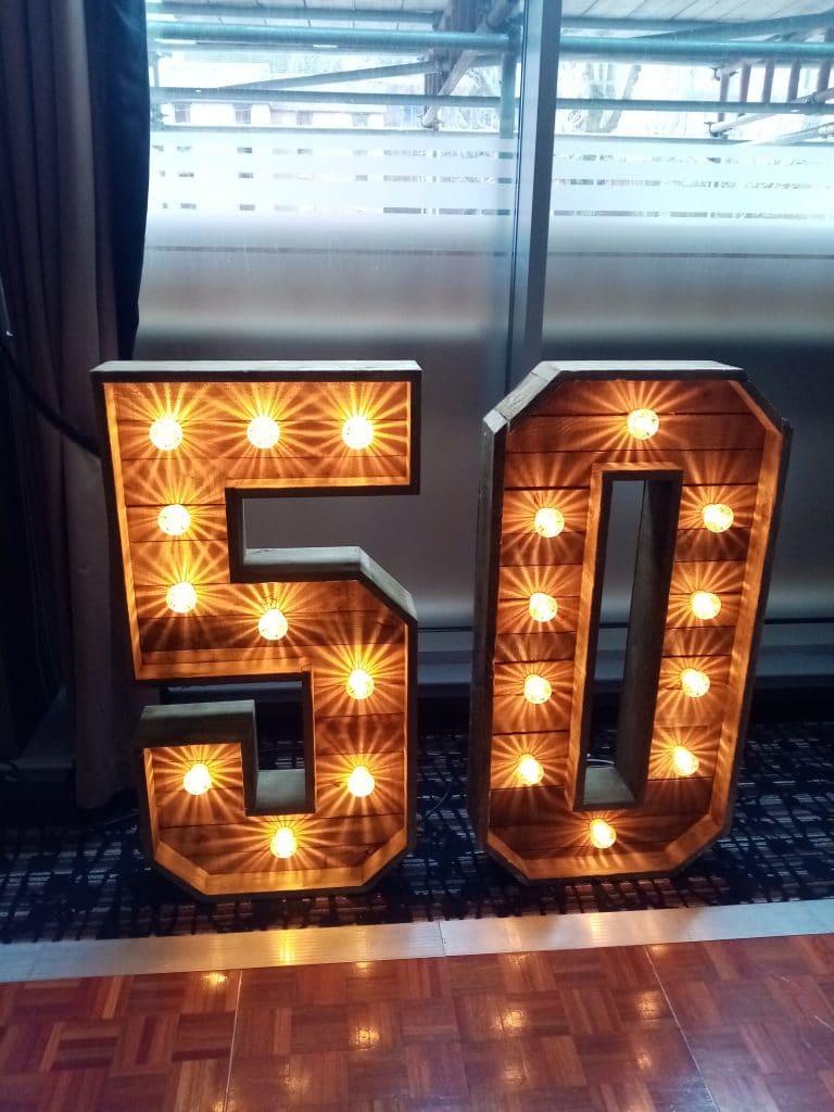 Rustic 50 Numbers
