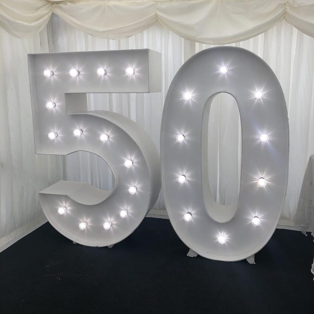 Light Up 50 Numbers Cuffley