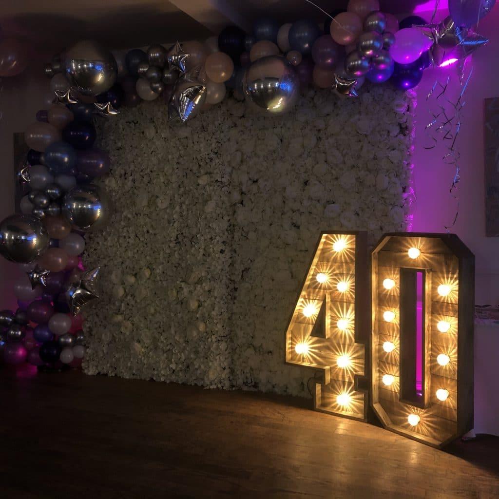 Rustic 40 Numbers