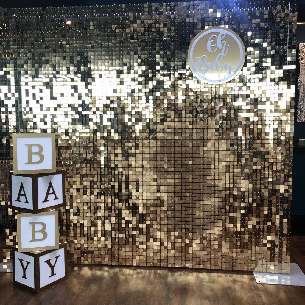 Sequin Wall Baby Shower