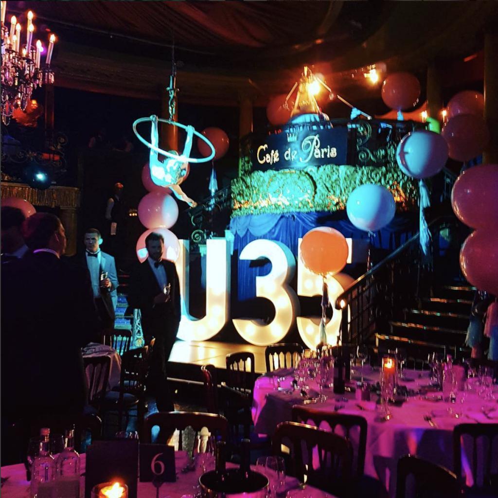 U35 event at Cafe de Paris London