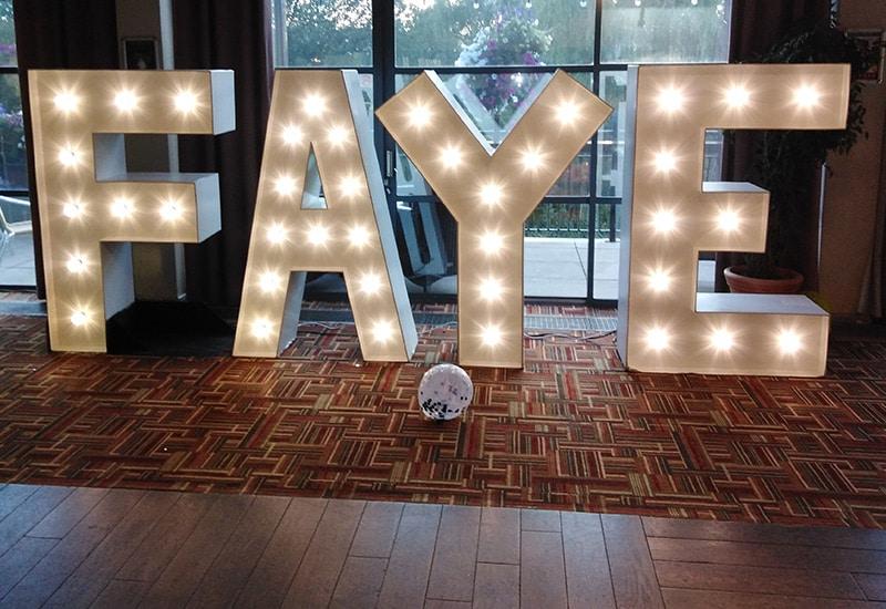 Light Up Name for Birthday