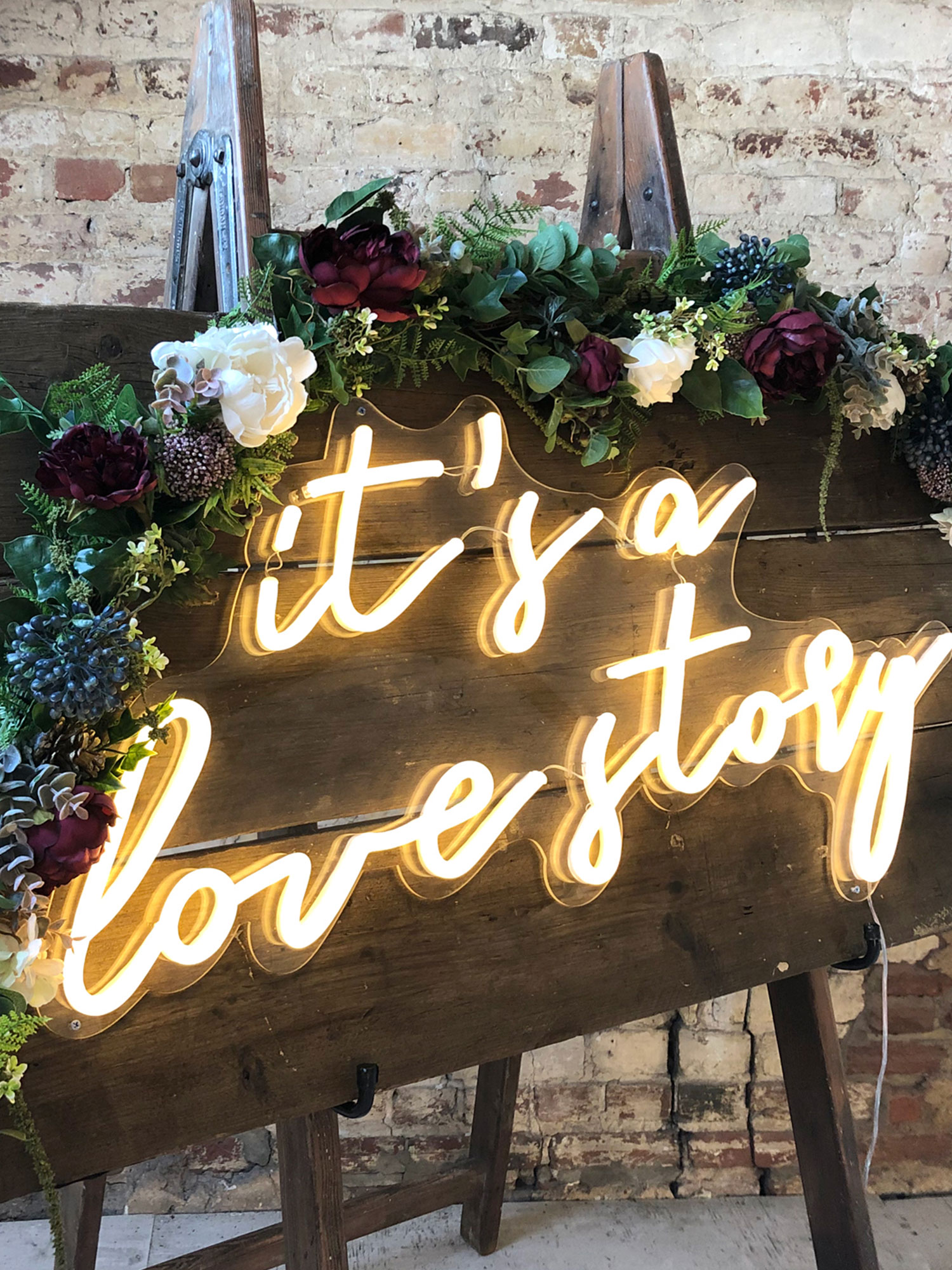 Rustic Neon Sign Hire