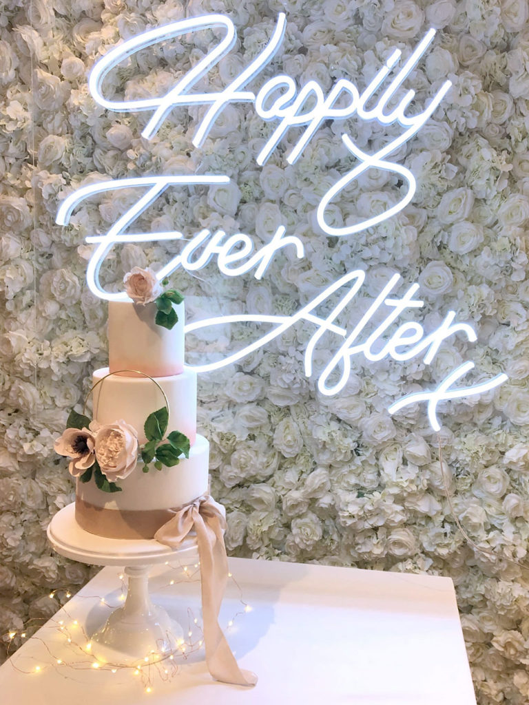 Neon Sign with Cake