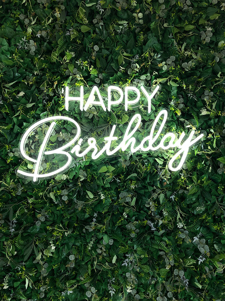Neon Happy Birthday Sign