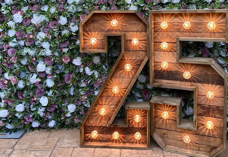 4ft Rustic Light Up Numbers