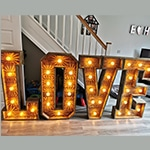 Light Up Letters Hire Hertfordshire