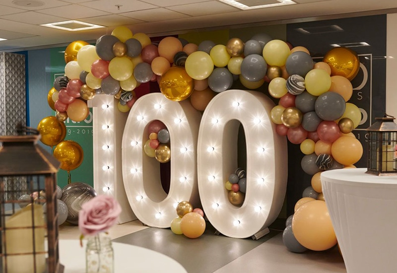 Balloons with 100 Lights