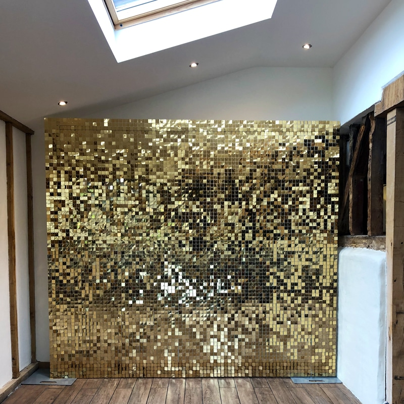 Gold Sequin Wall Hire Hertfordshire