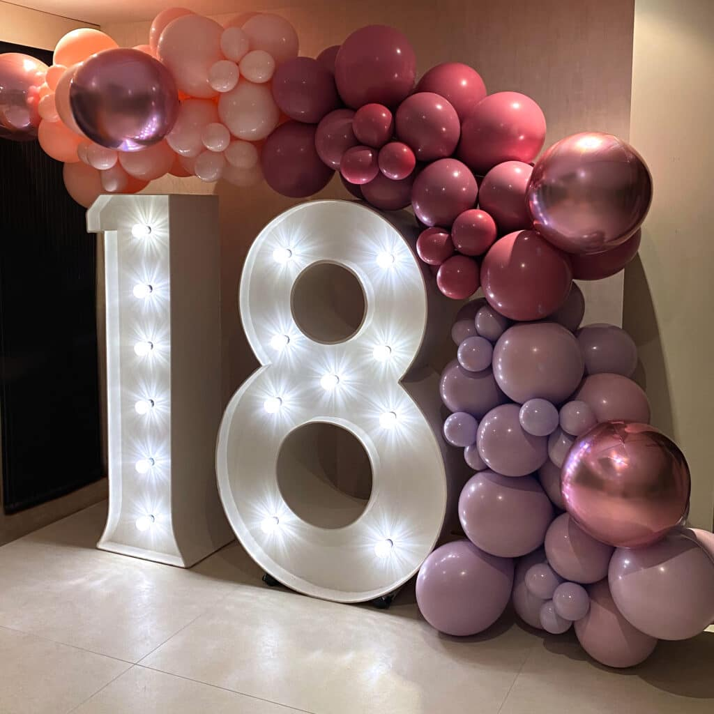 18 LED Number Hire
