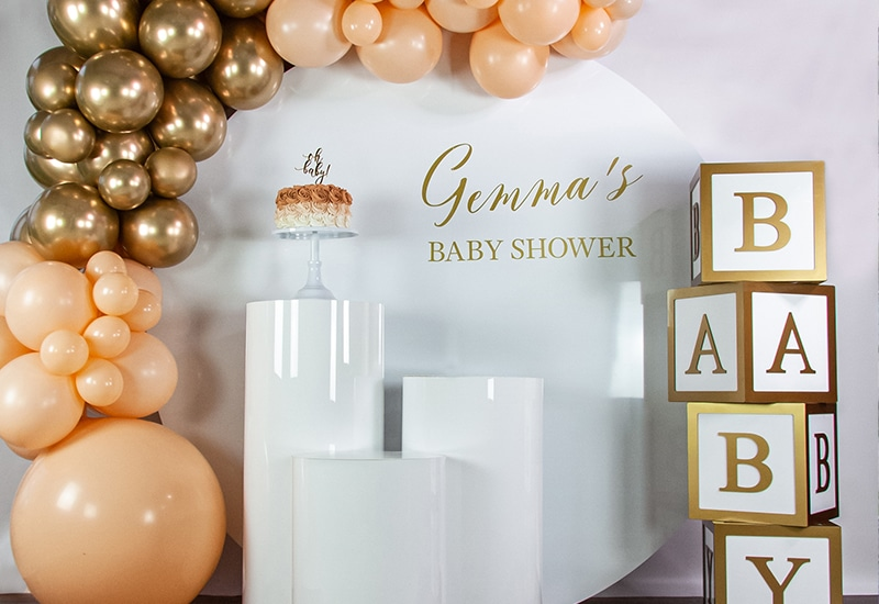 Baby Shower Decor with Balloons