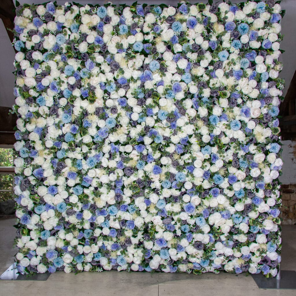 Blue Flower Wall Hire