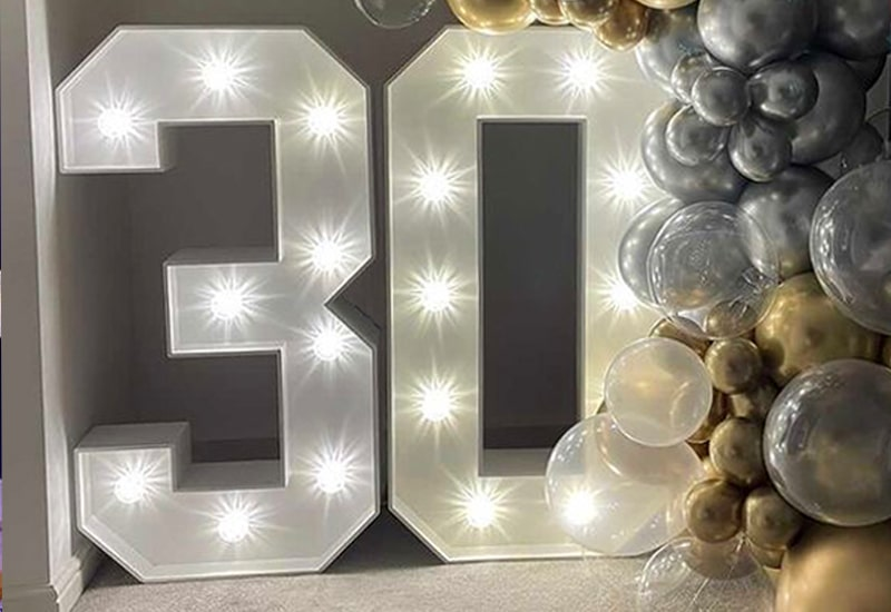 4ft 30 Light Up Numbers