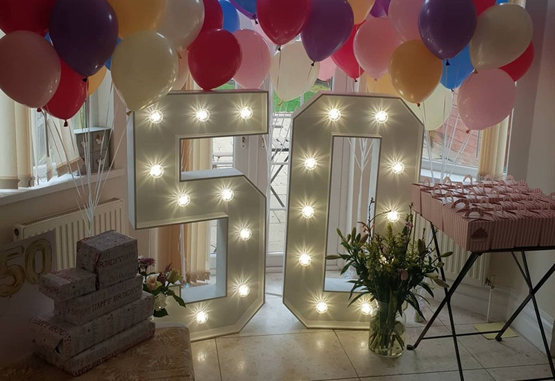 4ft 50 Light Up Numbers