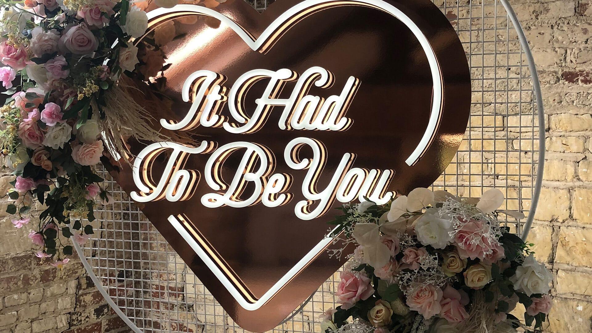 Wedding Neon Hire Hertfordshire